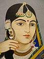 Portrait of Zeenat Mahal - Wife of Mughal Emperor - 19th Century - Tokyo National Museum - Tokyo - Japan (47898701151).jpg