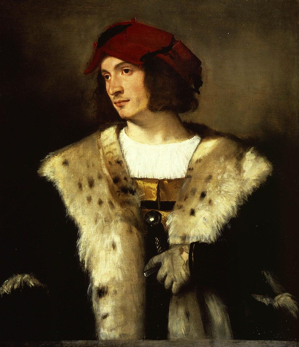 Portrait of a Man in a Red Cap - Titian c. 1510