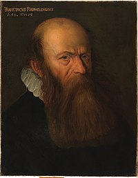 Portret van Franciscus Raphelengius, Albert Thijs, schilderij, Museum Plantin-Moretus (Antwerpen) - MPM V IV 103.jpg