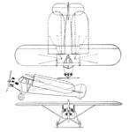 Potez 36 3-view Aero Digest December 1929.png