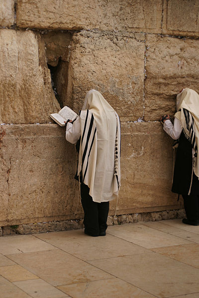 קובץ:Praying at the Western Wall.jpg