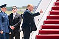 President Donald J. Trump and First Lady Melania Trump Land at Joint Base Andrews (47926534463).jpg