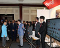 President Park Geun-hye looks around the booths of Korean firms during her visit to the Korea-India ICT Business Forum.jpg