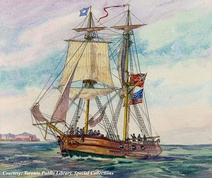 "Prize brig ""Adams"" in Lake Erie, Ontario, in 1812 (JRR 1153).jpg"
