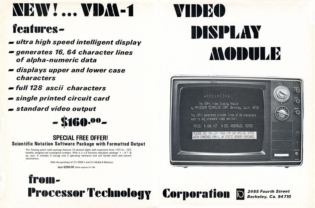 Processor Technology a první kompaktní mikropočítač