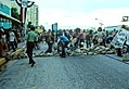 Protestors place sandbags in the street - Miami, Florida.jpg