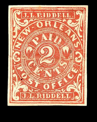 Postage stamps and postal history of the Confederate States - Provisional stampNew Orleans, 1862