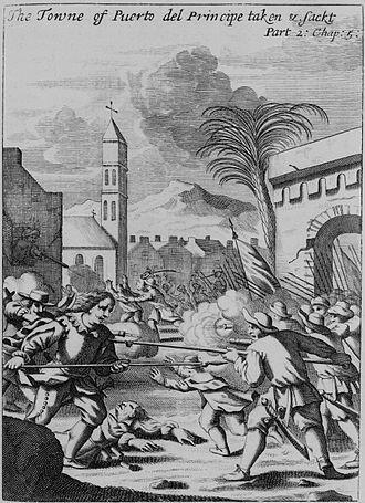Henry Morgan - Puerto Principe being sacked in 1668