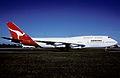 Qantas Boeing 747-338; VH-EBX, July 1987 BGN (4844994879).jpg
