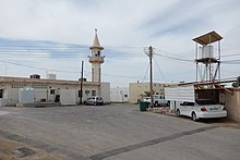 Qatar, Al Utouriya (3), village scene with mosque.JPG