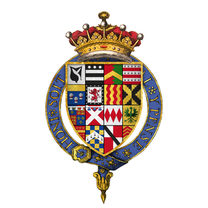 Henry Hastings, 3rd Earl of Huntingdon - Quartered arms of Sir Henry Hastings, 3rd Earl of Huntingdon, KG