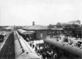 Queensland State Archives 3078 Passengers on the platform at Warwick Railway Station c 1905.png