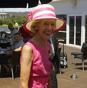 Quentin Bryce - Bryce after an interview at Regatta Point at the Australia Day ceremony in Canberra on 26 January 2010