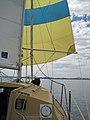 Quiet day on Port Phillip Bay in a Boomerang 20.jpg