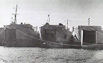 HMAS LST 3008 - HMAS LST 3008 (at right) in 1946