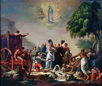 History of Mexico - The Miracle of the Little Spring, Rafael Ximeno y Planes, 1809. Colonialism had a profound influence in shaping what would become Mexico: religion, race, language, art, territory, etc.