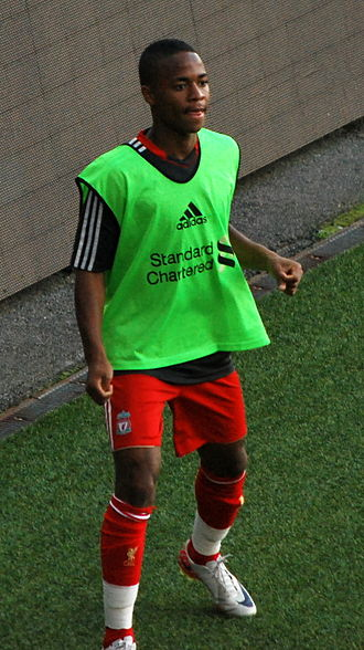 Raheem Sterling - Sterling warming up for Liverpool in 2011