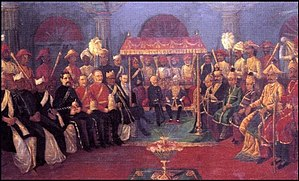 Maharaja - Durbar of Pudukkottai Maharaja with British officials.
