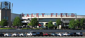 Raley Field - Image: Raley Field Sign May 2007