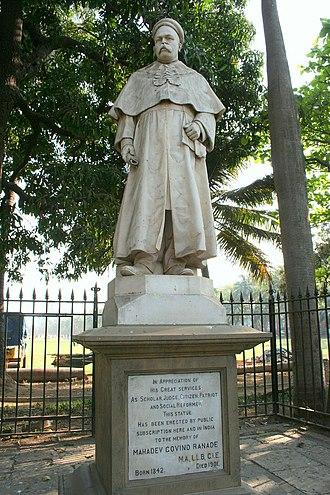 Mahadev Govind Ranade - Statue of Justice Mahadev Govind Ranade