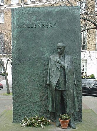 Wallenberg family - Raoul Wallenberg Memorial Statue, Great Cumberland Place, London