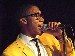 Stone Rollin' - Saadiq (pictured in 2008) recorded his vocals using a dynamic microphone.