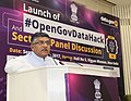 Ravi Shankar Prasad addressing at the launch of the Hackathon and the release of the Guidelines for Development of e-Governance Applications (GuDApps), in New Delhi.jpg