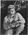Ready to make a shipment of pineapples to Hitler, Hirohito &Colorado. An infantryman at Fort Belvoir, Va., holds... - NARA - 196463.jpg