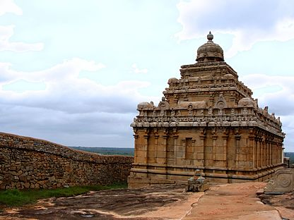 Rear view of Chavundaraya Basadi at Shravanabelgola.jpg