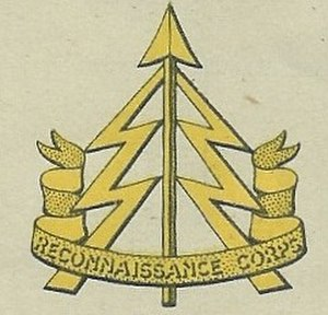 Bolton Rifles - Cap badge of the Reconnaissance Corps, 1941