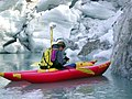 Recording the location of Grinnell Glaciers Terminus via kayak (4427590969).jpg