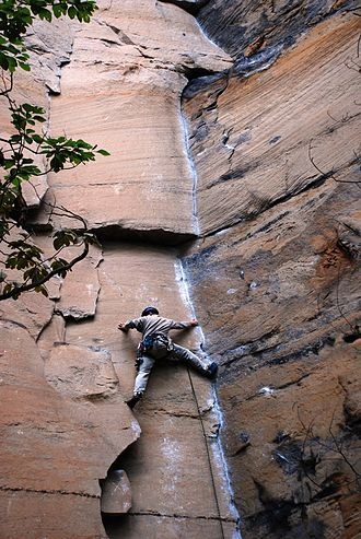 Stemming Red River Gorge - Long Wall - Rock Wars 1a.jpg