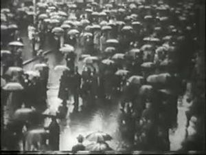 Joris Ivens - Still from film Regen (Rain, 1929) by Joris Ivens.
