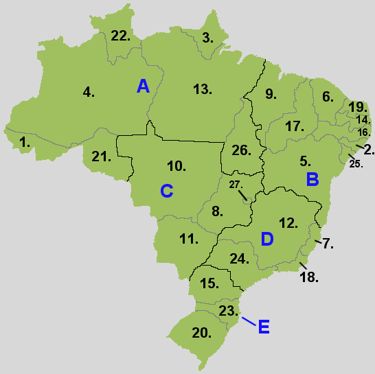 Regions and states of Brazil
