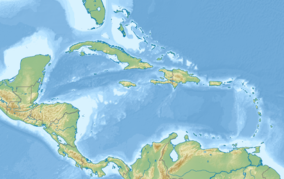 A map of the US Virgin Islands showing the location of Buck Island Reef National Monument