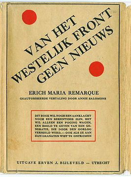 an analysis of western front Definition of all quiet on the western front in the idioms dictionary all quiet on  the  'all quiet on the western front': literary analysis and cultural context.