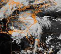 Remnants of Hurricane Bob 1985 over SE US.jpg