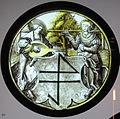 Renania, pannello araldico con giovane coppia, 1520-30 ca.JPG