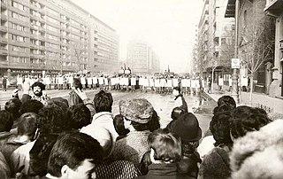 Romanian Revolution Period of civil unrest in Romania in December 1989