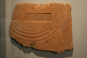 Legio I Adiutrix - Brick stamp LEG I AD found in Rheinzabern.