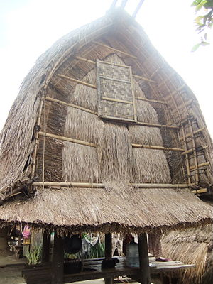 Rice barn - Lumbung, a rice barn of the Sasak people, Lombok, Indonesia