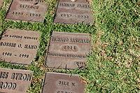 Richard Basehart grave at Westwood Village Memorial Park Cemetery in Brentwood, California.JPG