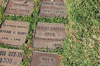 Richard Basehart - Richard Basehart's grave
