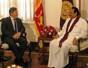 Richard Boucher - Richard Boucher with Former Sri Lanka President Mahinda Rajapakse