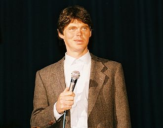Rich Hall - Hall performing at the Tower Theatre in Upper Darby, Pennsylvania in 1986