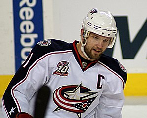 Rick Nash, born June 16, 1984 in Brampton, Ont...