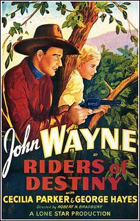 <i>Riders of Destiny</i> 1933 western film starring John Wayne directed by Robert N. Bradbury