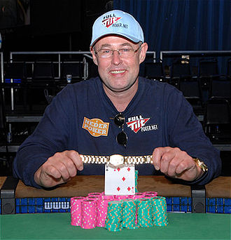 Rob Hollink - Hollink after winning the $10,000 Limit Hold'em World Championship at the 2008 WSOP.