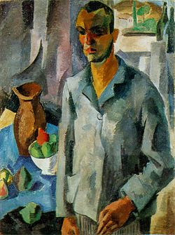 Robert Falk - Self Portrait Against a Window (1916).jpg