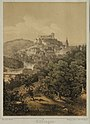 Robert Stieler (1847 in Heilbronn - 1908 in Karlsruhe) Ansicht von Tübingen - Lithographie aus Reise durch Schwaben um 1870.jpg